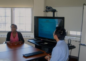 At the end of their internship, Laura and Austin presented about their experience.