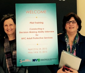 Peg Horan, LMSW, NYC Elder Abuse Center MDT Coordinator/Elder Abuse Prevention Specialist & Dr. Veronica LoFaso, NYC Elder Abuse Center MDT Geriatrician.