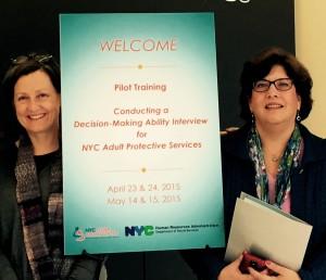 Peg Horan, LMSW, NYC Elder Abuse Center MDT Coordinator/Elder Abuse Prevention Specialist & Dr. Veronica LoFaso, NYC Elder Abuse Center MDT Geriatrician.